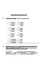 12595618 Examen Frances 1ESO 2Eval