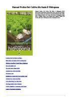 8484766683 Manual Prctico Del Cultivo Sin Suelo e Hidropona