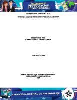 Actividad 10, Evidencia 4 Ejercicio Practico Desaduanamiento