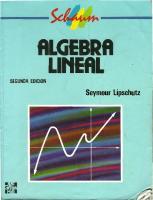 Algebra Lineal: Seymour Lipschutz