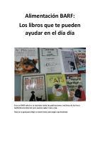 Alimentacion BARF:Los libros que te pueden ayudar en el dia dia.
