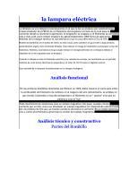 Analisis Sistemico de La Lampara Incandecente