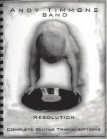 Andy Timmons Band - Resolution Tablature
