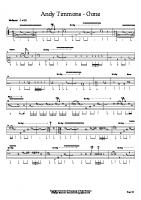 Andy Timmons - Gone (Guitar Tab)