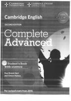 Cambridge English Complete Advanced