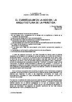 CAPITULO 8 El Curriculum en La Accion