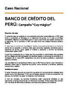 CASO - BCP El Cuy Magico