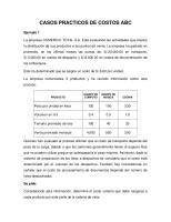Casos Practicos De Costos Abc: Ejemplo 1