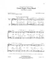 Ccc-Good Night Dear Heart-DAN FORREST