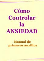 Como Controlar La Ansiedad