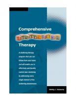 Comprehensive Stuttering Therapy