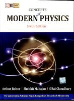 Concept of Modern Physics, A. Baiser, Fifth Edition, McGraw Hill.