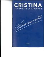 Cristina Fernandez de Kirchner - Sinceramente
