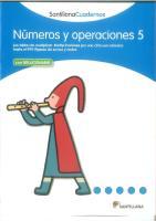 Cuaderno Santillana Números y Operaciones 5