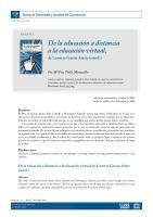 De La Educacion a Distancia a La Educacion Virtual