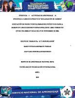 Desarrollo Evidencia 4 Fase 14. Ejercicio Practico de Declaracion de Cambio.