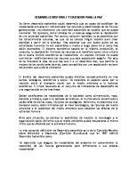 Desarrollo Sostenible y Educacion Para La Paz