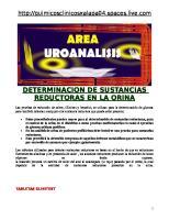 Determinacion de Sustancias Reductoras en La Orina