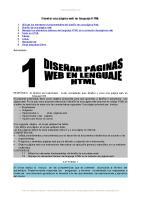 Disenar Paginas Web en HTML