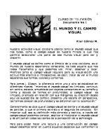 El Mundo y El Campo Visual