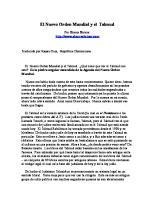 El Nuevo Orden Mundial y El Talmud