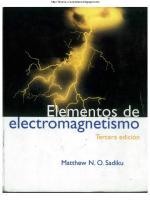 elementos de electromagnetismo - 3ra edición - matthew n. o. sadiku