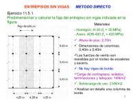 Entrepisos Sin Vigas: Predimensionar y calcular la faja del entrepiso sin vigas indicada en la figura