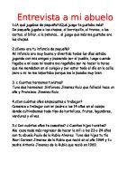 Entrevista A Mi Abuelo