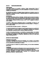 Especificaciones Tecnicas de POSTES DELINEADORES
