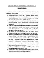 Especificaciones Tecnicas Para Estaciones de Transferencia