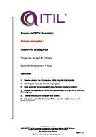 Examen de ITIL 4 Foundation