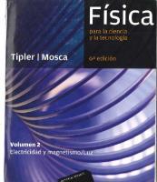 Fisica Tipler. Volumen II (6ta Edicion)