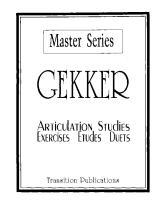 Gecker - Articulation Studies