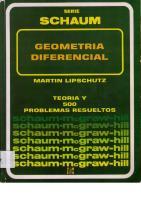 Geometria Diferencial Lipschutz