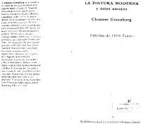 Greenberg La pintura moderna y otros ensayos