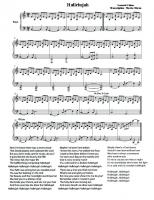 Hallelujah - Rufus Wainwright (sheet music & lyrics)