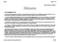 Historia de La Termometria