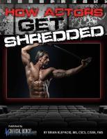 How Actors Get Shredded