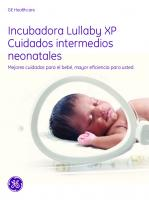 Incubadoras - Lullaby XP - Brochure