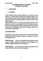 INFORME OHSAS 18000