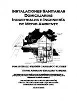 Instalaciones Sanitarias Domiciliarias Industriales e Ingeniería de Medio Ambiente PDF