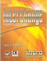 Interchange Fourth Edition Intro