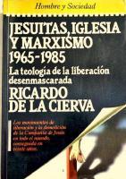 Jesuitas Iglesia y Marxismo, RICARDO de LA CIERVA