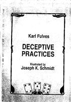 Karl Fulves - Deceptive Pratices