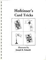Karl Fulves - Hofzinser's Card Tricks