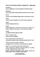 Lingua Latina Per Se Illustrata. Capitulum Xvii Radices Latinae