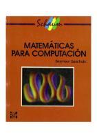 Lipschutz Seymour - Matematicas Para Computacion