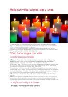 magia con las velas