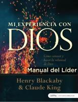 Manual Para Lider - Mi Experiencia Con Dios 1pdf