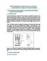 Mechanisms and Mechanical Devices Source Book Basics of Mechanisms